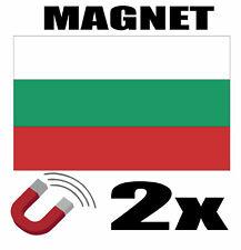 2 x BULGARIE Drapeau Magnet 6x3 cm Aimant déco BULGARIE magnétique frigo