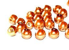 50 10 Mm Perla redonda de cristal Joyería Artesanal De Cuentas-Varios Colores