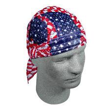 Classic USA American Flag Vented Mesh Sweatband Doo Rag Headwrap Biker Durag