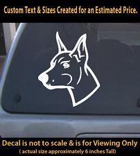 Doberman Decal Graphic Dog Vinyl Sticker