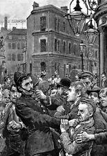Lavoro della polizia nell'EAST End di Londra 1895 POSTER stampati