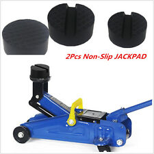 2Pc Non-slip Slotted Car Slotted Frame Rail Hydraulic Floor Jack Disk Rubber Pad