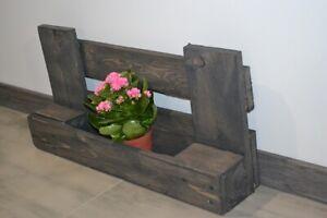 Wand+Boden Pflanzer Blumen Kasten Topf Behange Ständer Halter Holz Europalette
