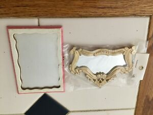 VINTAGE DOLL HOUSE MINATURES 2 WALL MIRRORS