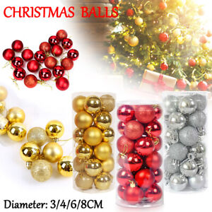 24/48x Christmas Decorations Baubles Tree Xmas Balls Party Wedding Ornament  AU