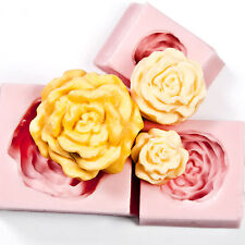 Cabbage Rose Silicone Mold Set Soap Molds Candle Molds Polymer Clay Molds (214