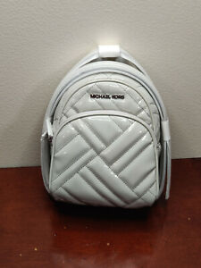 NWT New MICHAEL Michael Kors Abbey X-Small Mini Backpack Xbody in Aluminum Color