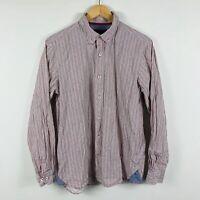 Joe Browns Mens Button Up Shirt Size Medium Multicoloured Geometric Long Sleeve