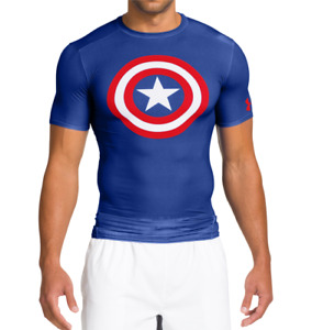 Men's Under Armour Alter Ego Captain America Compression Shirt New Size M