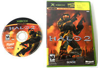 HALO 2 ORIGINAL MICROSOFT XBOX VIDEO GAME DISC CASE 2004 SCRATCHED TESTED WORKS