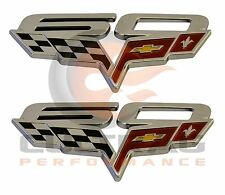 2013 Corvette Genuine GM 60th Anniversary Fender Emblem Set 22946252