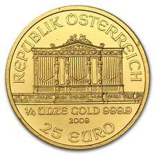 2009 Austria 1/4 oz Gold Philharmonic BU - SKU #51627