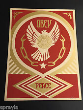 Obey Giant - HOLIDAY 2014 / PEACE DOVE - AP - Signed - RARE - Shepard Fairey
