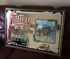 More details for rare large tetley bitter hunting scene mirror for man cave/ bar
