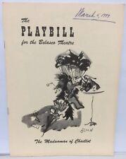 1949 Playbill THE MADWOMAN OF CHAILLOT Jean Giraudoux JOHN CARRADINE