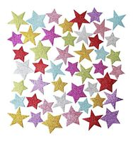 EVA Foam GLITTER STARS Self Adhesive Foam Shapes Craft Star Sticker Colours 100