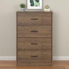 Bedroom Storage Dresser Chest 4 Drawer Modern Wood Furniture Gray Rustic Oak