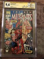 New Mutants #98 CGC 9.4 Signed by STAN LEE & ROB LIEFELD J Scott Campbell Label