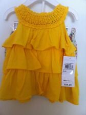 Ralph Lauren Infant Girls Yellow Ruffled Tunic Floral Bloomers Size 3M NWT