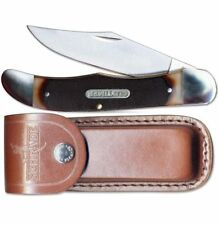Mustang Old Timer Folding Knife Stainless Steel Clip Point Blade Delrin Handle
