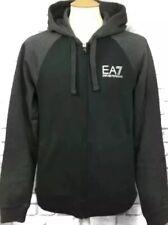EA7 Black/Grey Zip Hoodie Size S