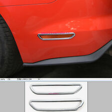 2pcs ABS Rear Bumper Side Brake Light Cover Trim For Ford Mustang 2015 2016 2017