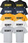 Security T-Shirt Size S-4XL Front/Back event staff party uniform bouncer guard