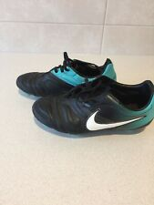 Nike Soccer Boots Junior Size 2/2,5 / 34 In Green/ Black