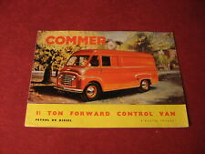 1950's Commer Bus Van Truck Sales Brochure Booklet Catalog Book Old