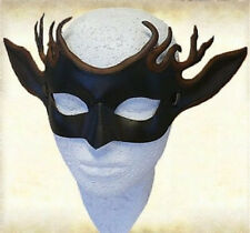 Handmade Leather Deerhorn Mask Cosplay Masque Halloween Party Deer Costume