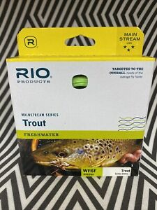 RIO MAINSTREAM TROUT WF-6-F #6 WT. WEIGHT FORWARD FLOATING FLY FISHING LINE