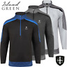 """50% OFF"" ISLAND GREEN MENS 1/4 ZIP MICROFIBRE FLEECE GOLF JUMPER / PULLOVER"