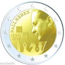 2 euros conmemorativa/especial moneda Estonia 2016 100. cumpleaños de Paul Keres