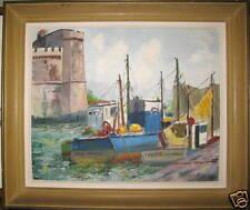 tableau huile sur toile, marine signé J. Mary, la rochelle