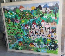 Wall Hanging Quilt - 3D peruvian textile artwork - Arpillera art work tapestrie