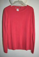 M&S Cerise Pink Soft Crew Neck Jumper ~ Size 10 NEW