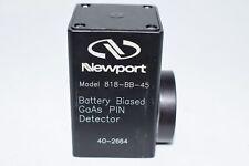 Parts 818-Bb-45 Fiber-Optic Detector, 500-900 nm Battery Biased GaAs Detector, 1
