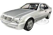1997 MERCEDES BENZ CL600 COUPE MET. SILVER 1/18 DIECAST MODEL CAR NOREV 183446