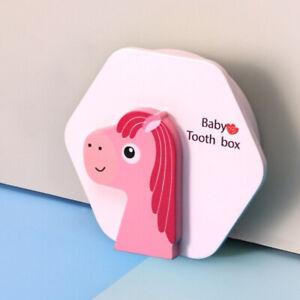 Wooden Newborn Baby Milk Tooth Keepsake Box Organizer Storage Souvenir Case Gift