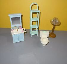 Fisher Price Loving Family Dollhouse Lamp Bathroom Vanity Sink w/Mirror Cabinet