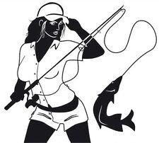 Sexy Girl Fishing -  Sticker Decal