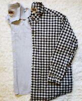 Big & Tall Men's Foundry Plain & Plaid Cotton Long Sleeve Shirt 3XLT Lot of 2