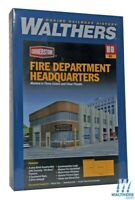 Walthers 933-3765 Fire Department Headquarters Kit HO Scale Train