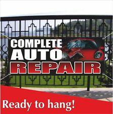 Complete Auto Repair Banner Vinyl Mesh Banner Sign Car Mechanic Shop Service