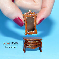 "1:48 1/4"" quarter scale Victorian dresser with mirror room set 2pcs Top quality"
