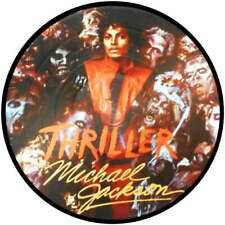 """MICHAEL JACKSON THRILLER  QUALITY VINYL STICKER  100MM ROUND 4"""" B2 GET 1 FREE"""