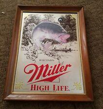 Miller Beer Mirror Wildlife Sportsman Series Wisconsin Bass Fishing 1St Edition