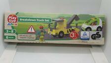 Playtive Junior Wooden Breakdown Truck Set for Wooden Rail Train & Road Sets