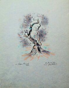 Hamburg: Old Olivier - Lithography Original Signed And Enhanced Choose Pastel