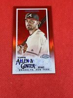 2020 Topps Allen And Ginter Chrome mini Red Refractor #3/5 SSP Dansby Swanson